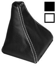 Soufflet de levier vitesse noir CUIR coutures blanches pour SEAT IBIZA 6J 09-14