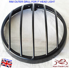 ROYAL ENFIELD BULLET BLACK HEADLIGHT RIM OUTER GRILL FOR 7'' HEAD LIGHT