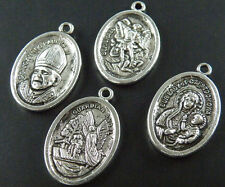 30pcs Tibetan Silver Mixed Saint Charms 26x16mm
