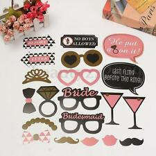 20PCS Photo Props Booth Photobooth Moustache On A Stick Wedding Party Dress DIY