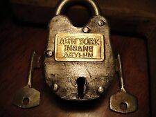 Insane Asylum Lock New York Antique Lock With Key Padlock