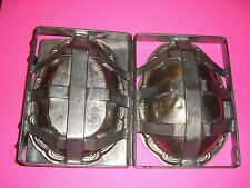 Antique Chocolate Mold Candy Mold Easter Mold GIANT EASTER EGG MOLD 3 PCS Hinged