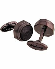 "MONTEGRAPPA - ""Emblema"" Brown PVD Brass Cufflinks MSRP $250"