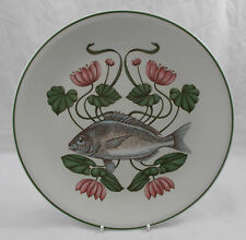 Villeroy & and Boch ATLANTIC FISH dinner plate 6 Sea Bream Brownidge excellent