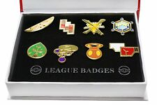 Pokemon Kalos 8 Metal League Gym Badge Pin Pip Gen 6 Cosplay Prop Collection Set