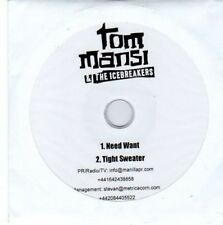 (BY97) Tom Mansi & The Icebreakers, Need Want - DJ CD