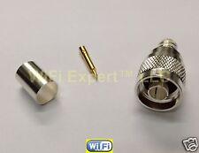 Silver N Male Crimp Connector LMR-400 Belden 9913 RG8 RG213 RG214 RF Cnctr 10 pk