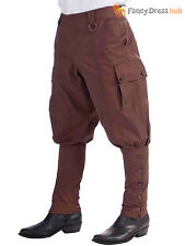 Mens 1920s Victorian Steampunk 20s Trousers Breeches Fancy Dress Costume