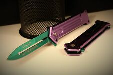 BATMAN JOKER WHY SO SERIOUS STILLETO TAC FORCE POCKET KNIFE SPRING ASSIST 457PGN