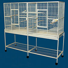 LARGE Double Flight Wrought Iron Cage Cockatiel Ferret Sugar Glider 15D WTE 375