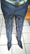 cowboy boots Mulle ears thigh high 32¨ tall  high heels made to order