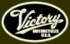 "VICTORY MOTORCYCLES EMBROIDERED PATCH ~3-7/8"" x 2-3/8"" BORDADO PARCHE AUFNÄHER"
