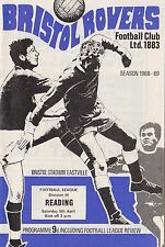 Football Programme BRISTOL ROVERS v READING Apr 1969