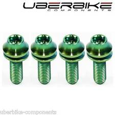 Titanium Bottle Cage Bolts 6Al4V  M5-16mm (4 BOLTS) Green