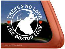There's No Love Like Boston Love ~ High Quality Boston Terrier Dog Decal Sticker