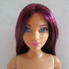 NEW! Barbie Evolution Fashionista Dark Hair Blue Eyes Latina Doll ~ Nude Curvy
