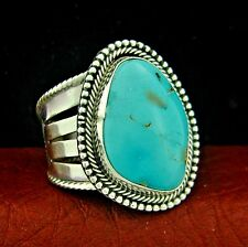Raymond Delgariio Navajo Sterling Silver Turquoise Ring Size 11 --- R19 E T