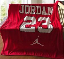 New Michael Jordan AJ #23 Flannel Blanket Bed Sheet Cover Throw (150x130cm)