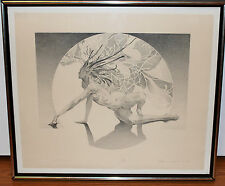 """James Drake """"Genesis"""" Limited Lithograoh Print 02/30 1973 Signed and Dated"""