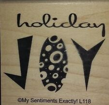 NEW MSE! My Sentiments Exactly! Mounted Wood Rubber Stamp L118 Retro Joy