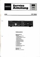 Service Manual-Instructions pour Grundig CF 5000