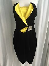 Lanvin Paris Sakowitz Vintage Cocktail Dress 0 EUC Absolutely Stunning! Belted