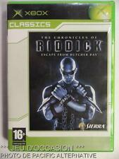 Jeu THE CHRONICLES OF RIDDICK Escape From Butcher Bay microsoft XBOX 1 francais