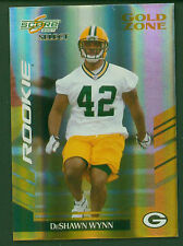 2007 Score Select Gold Zone #377 DeShawn Wynn RC Green Bay Packers 13/50