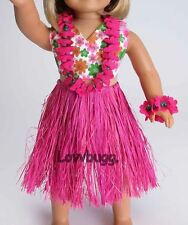 """Pink Hawaiian Hula Set for 18"""" American Girl Doll Best Price & Widest  Selectio"""