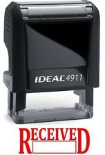 RECEIVED with Date Box, IDEAL 4911 Self-inking Rubber Stamp with RED INK