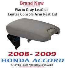 Genuine OEM Honda Accord EX Gray Leather Armrest Lid 2008-2009