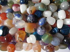 20pcs x Natural Stone Beads In Assorted Colours & Sizes For Jewellery Making
