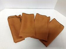 6 Burnt Orange Kitchen Dinner Table Cloth Napkins Fall Halloween Autumn 18x18