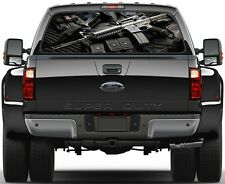 AR 15, AK47, Rifle Painting Rear Window Graphic Decal Truck SUV
