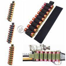 Tactical 9 Rounds pouch Shotgun Shell Holder Card Strip with dhesive Back f 12G
