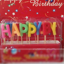 Happy Birthday Letter Candles Toothpick Cake Cute Candle Kids Party Decor DIY