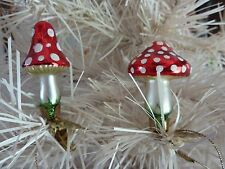 CUTE Set of Mini Magic MUSHROOM Figurines / Ornaments with clips Mint Condition