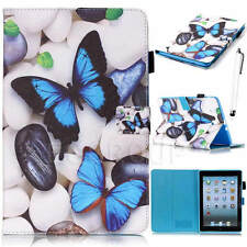 Cute Pattern PU Stand Smart Case Cover For iPad Pro iPad Air Mini Samsung Tablet