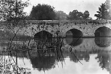 1910s ABINGDON #16 Old Bridge Antique Photographic Glass Negative (River Thames)