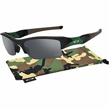NEW Oakley FLAK JACKET XLJ POLARIZED Sunglasses Matte BLACK Iridium 24-429