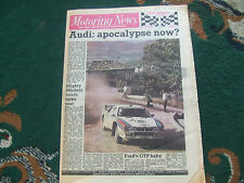 Motoring News 8 June 1983 Acropolis Rally Indy 500 Detroit GP Willhire 24