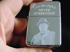 Winston Churchill Engraved Fuel Lighter With Gift Box