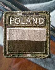 Polish army flag POLAND patch  75x75mm