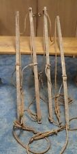 Antique Hay Trolley Large Straw Lifts Wood Rope Cast Iron Farm Barn Tool