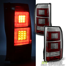Smoke For 2005-2009 Land Rover Discovery 3 LR3 Square LED Bar Tail Lights Lamps