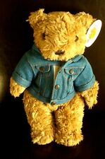 HRC Hard Rock Cafe Berlin Jeans Jacket Teddy Bear NWT