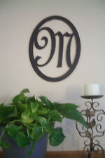 Black Wood Initial (Choice of Letter A through Z) Wall Decor Sign