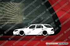 2x LOW Saab 9-5 / 95 estate wagon, Lowered outline euro car stickers Decals