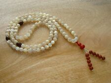 Feng Shui - 8mm Shell and Pietersite 108 Mala Rosary for Meditation (High Grade)