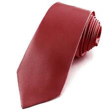 CRAVATE Fine de qualité SLIM 5cm homme satin Rouge sombre Tie Necktie Red skinny